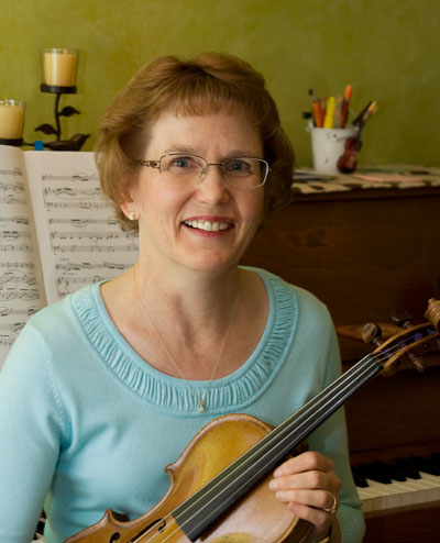 Deb Weideman with violin student